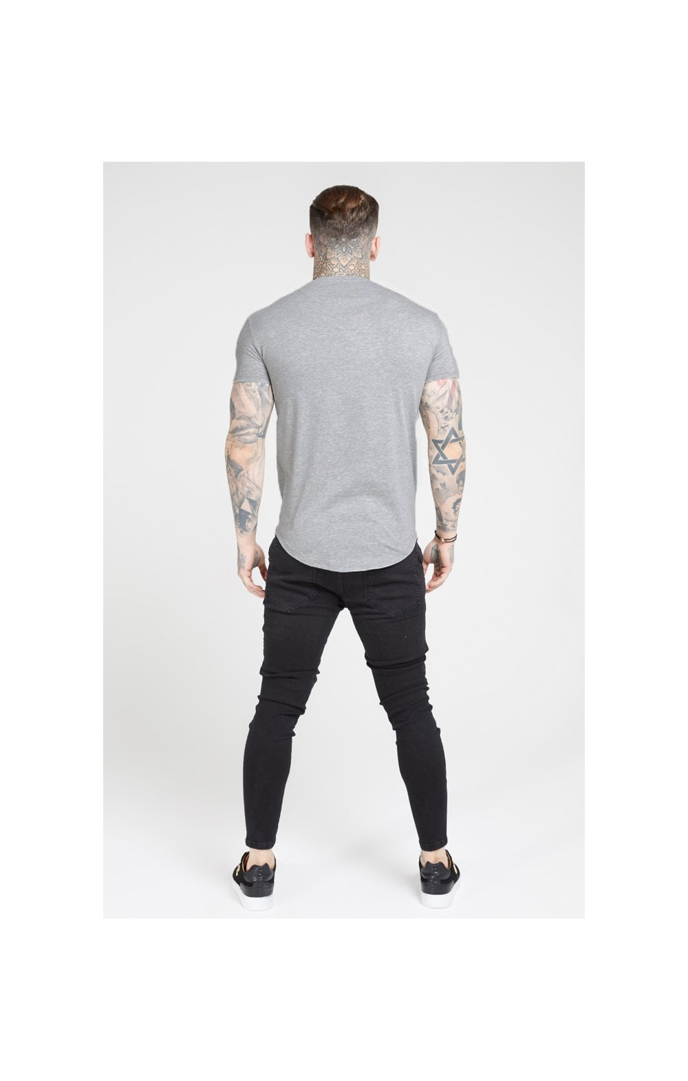SikSilk Core T-Shirt de Gym à Manches Courtes - Marne Gris (4)