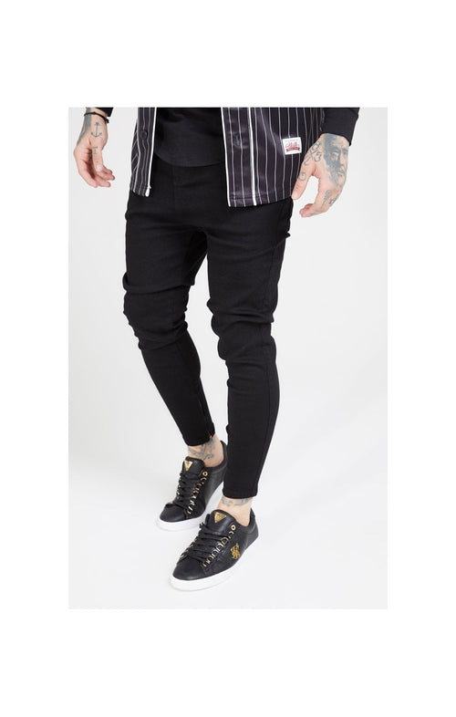 SikSilk Drop Crotch Denims – Black