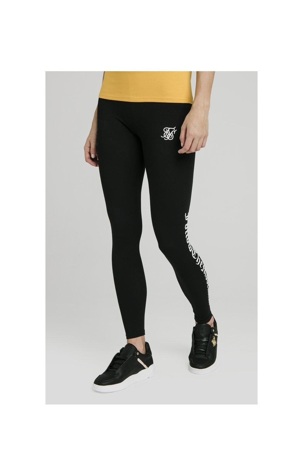 "SikSilk Legging avec Texte ""Follow the Movement"" - Noir (1)"