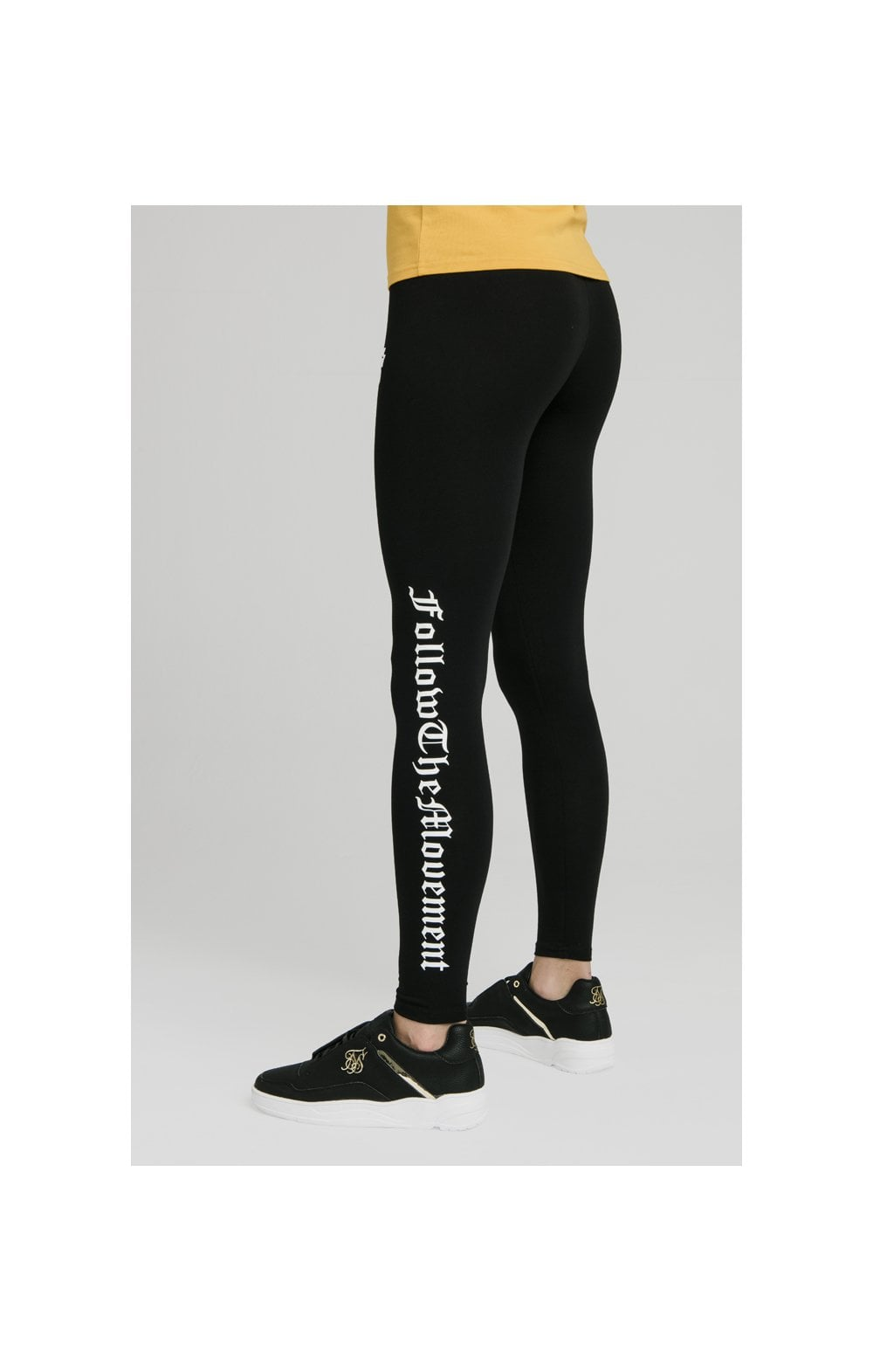"SikSilk Legging avec Texte ""Follow the Movement"" - Noir (2)"