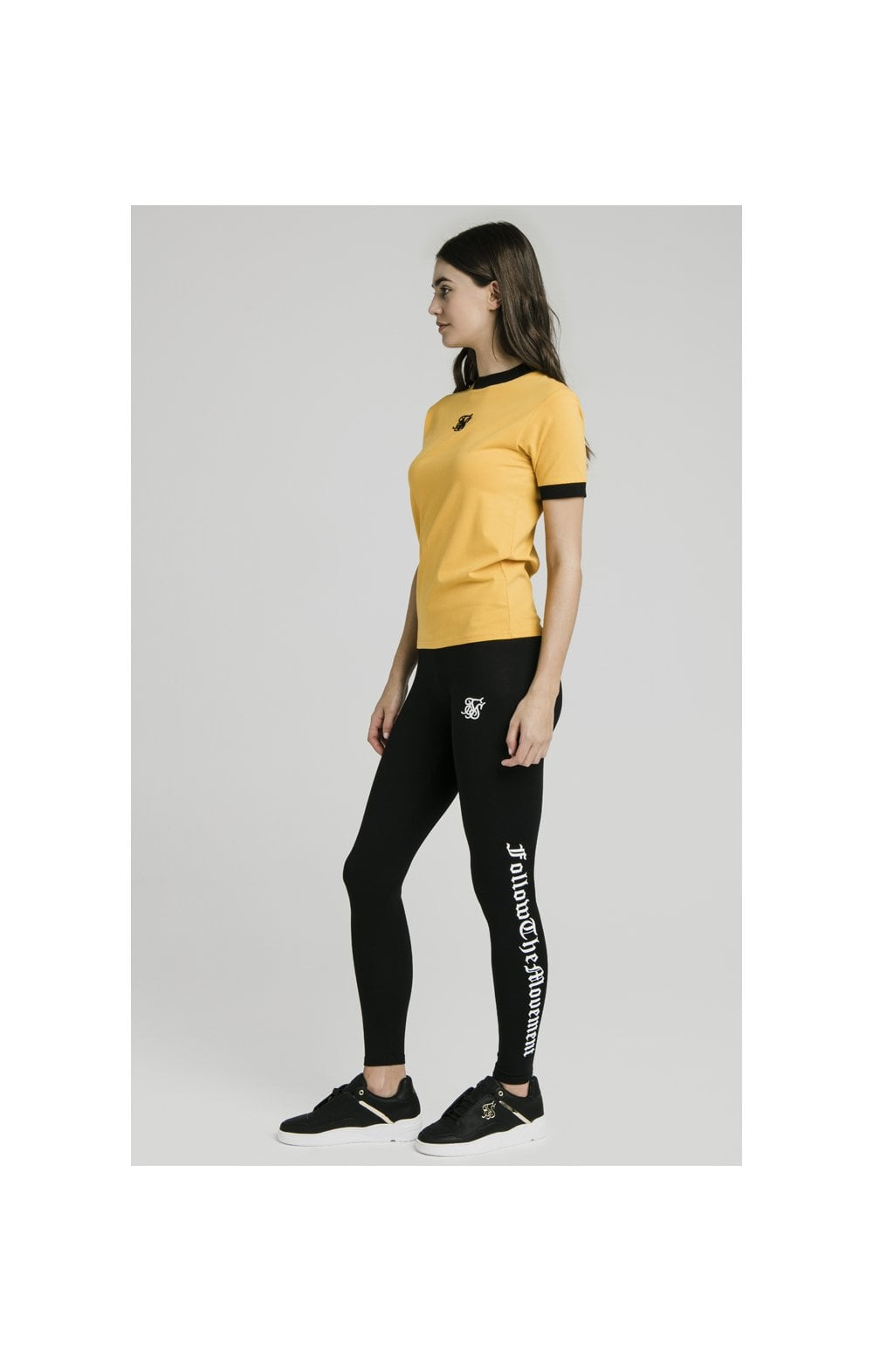 "SikSilk Legging avec Texte ""Follow the Movement"" - Noir (3)"