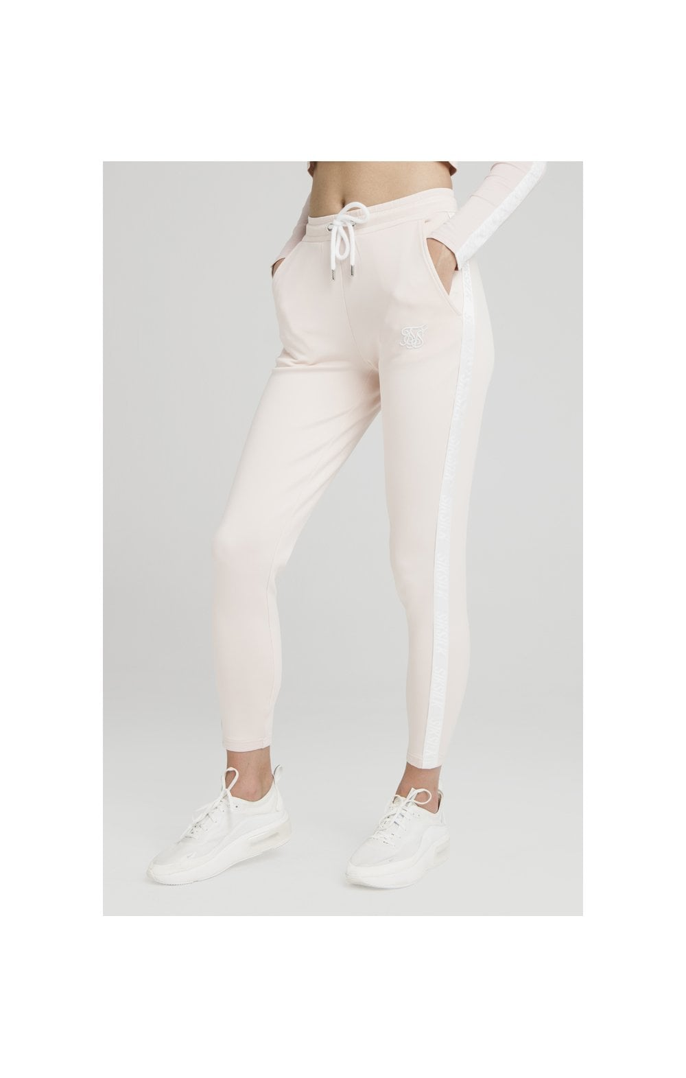 SikSilk Tape Track Pants - Cloud Pink