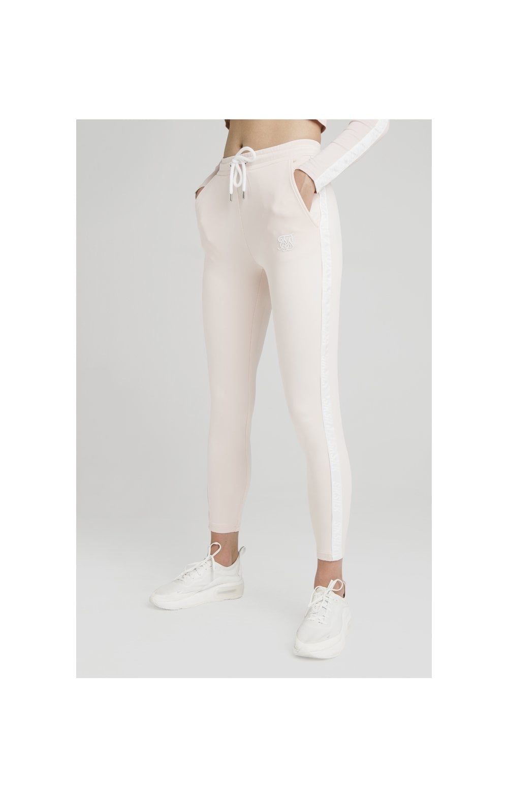 SikSilk Tape Track Pants - Cloud Pink (1)