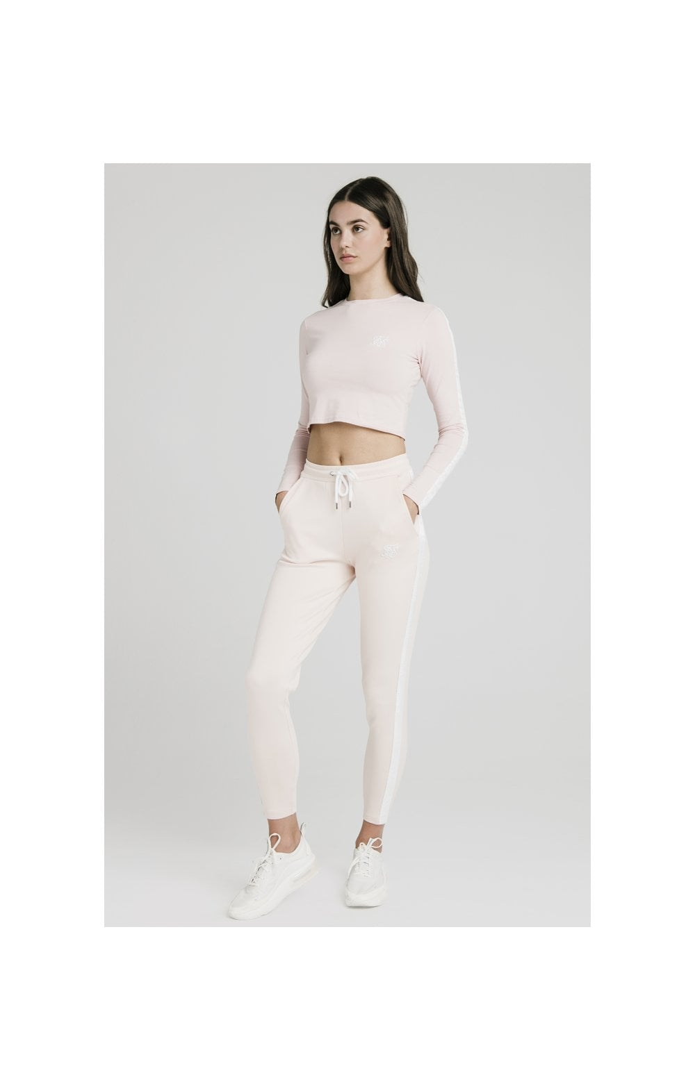Charger l'image dans la galerie, SikSilk Tape Track Pants - Cloud Pink (5)