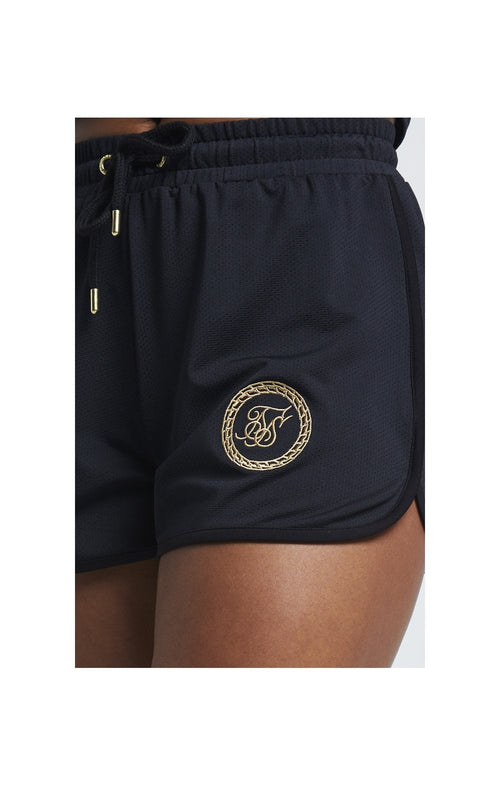 SikSilk Mesh Runner Shorts - Black