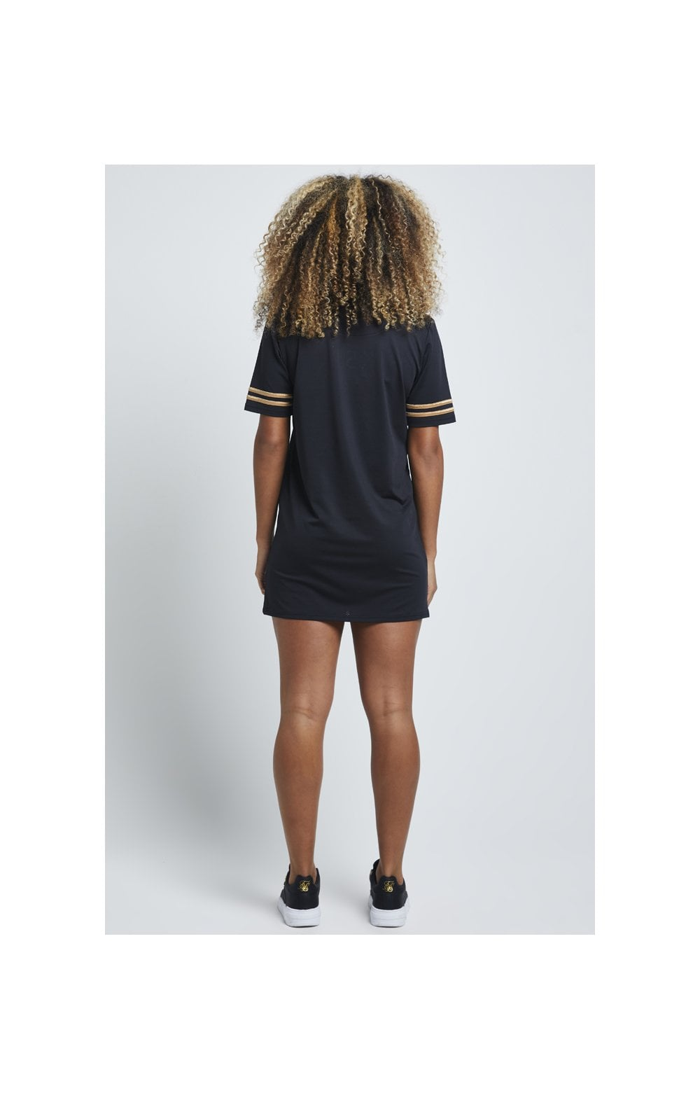 Charger l'image dans la galerie, SikSilk Mesh T-Shirt Dress - Black (5)