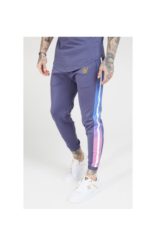SikSilk Fitted Fade Cuffed Pants – Tri-Neon Fade