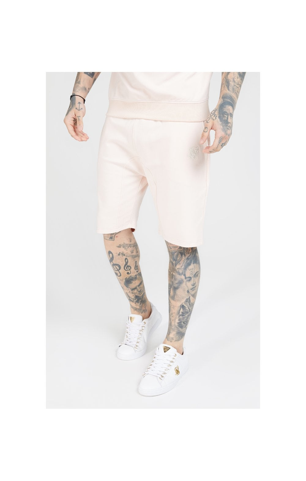 SikSilk Relaxed Shorts - Cloudy Pink