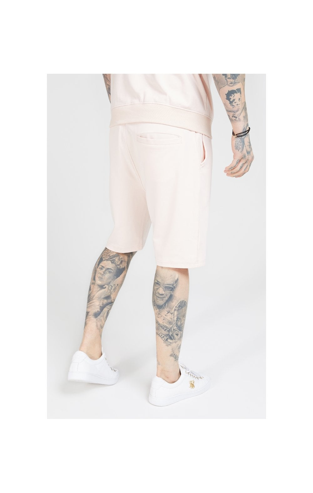 SikSilk Relaxed Shorts - Cloudy Pink (1)