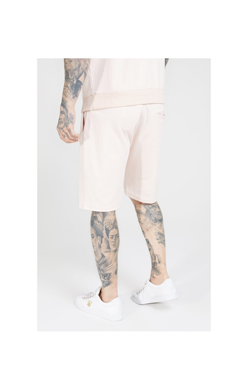 SikSilk Relaxed Shorts - Cloudy Pink (2)