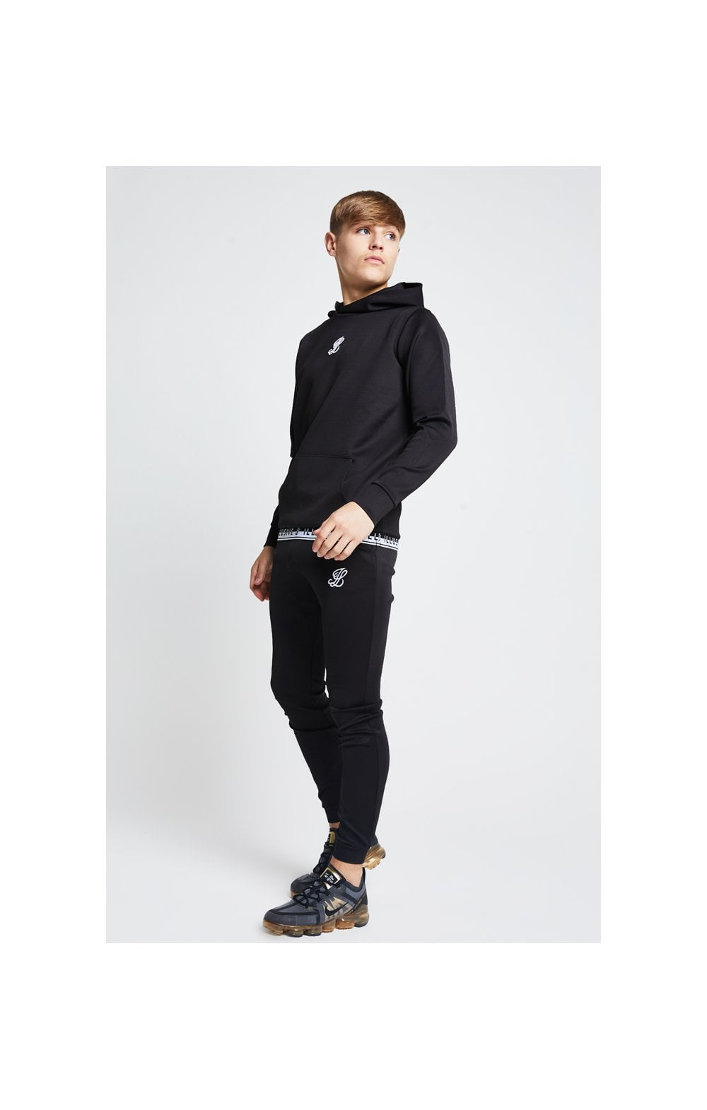 Illusive London Taped Overhead Hoodie - Black (2)