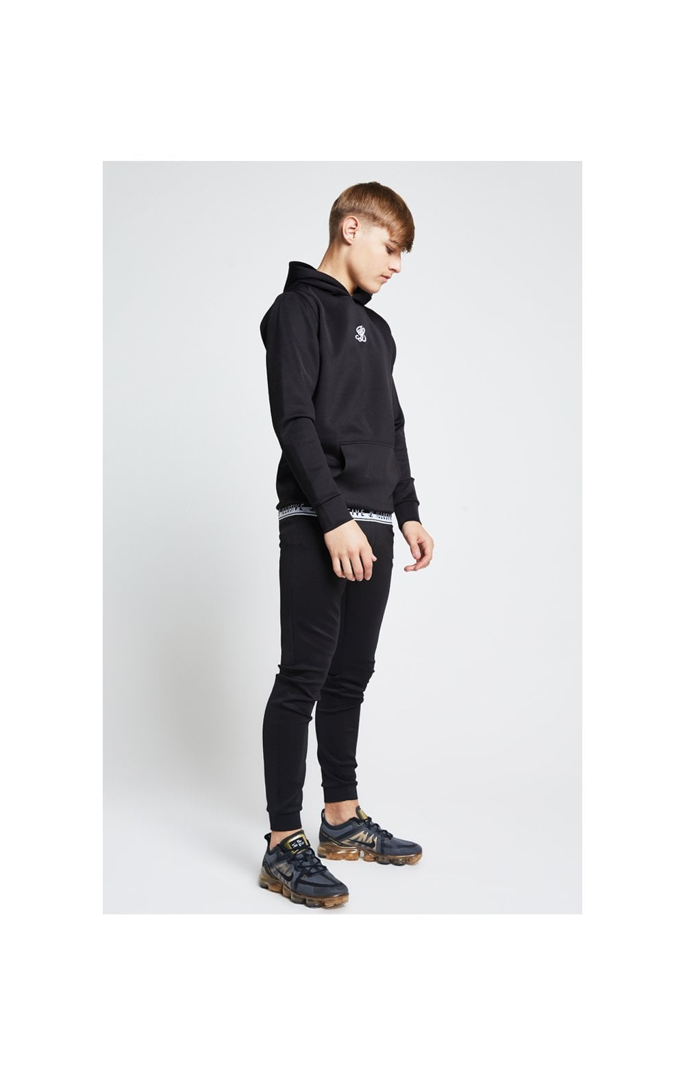 Illusive London Taped Overhead Hoodie - Black (3)