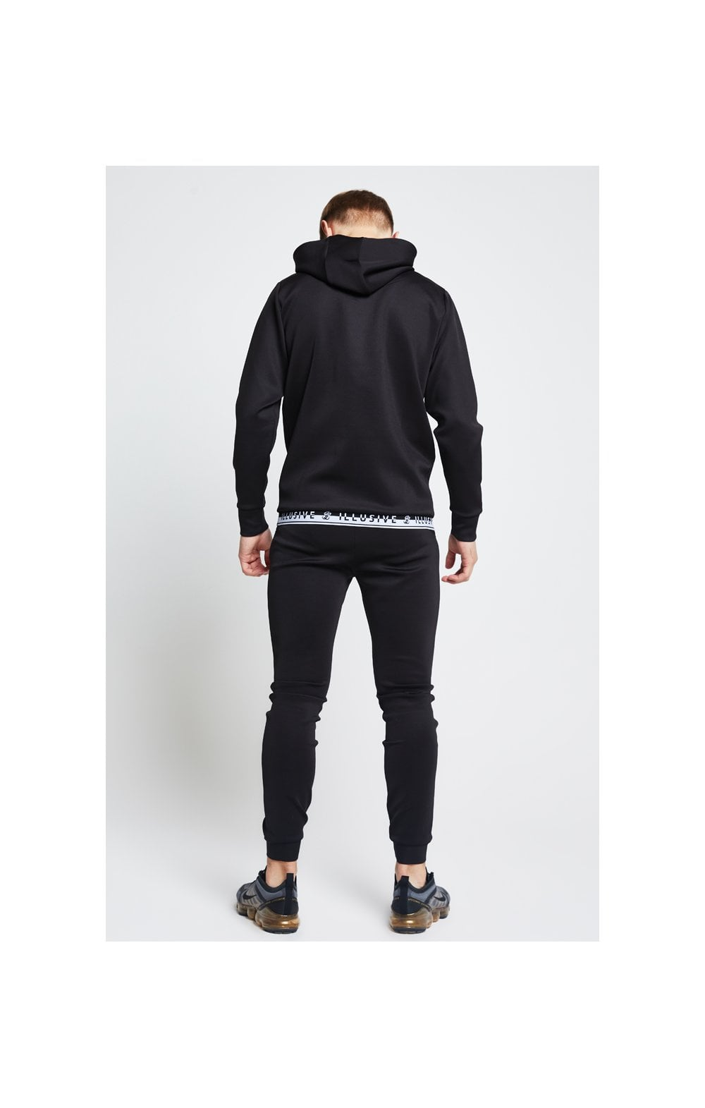 Illusive London Taped Overhead Hoodie - Black (5)