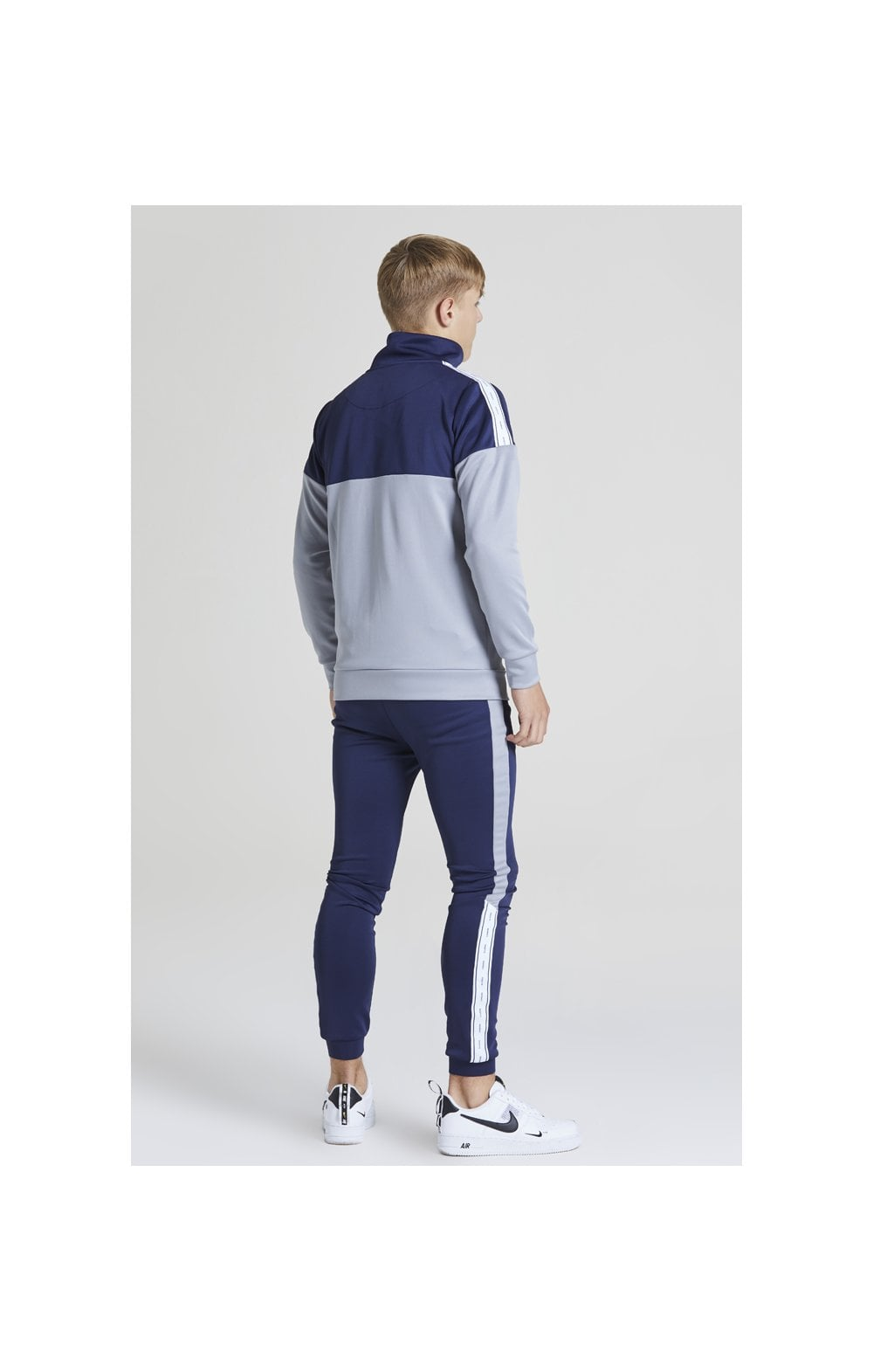 Illusive London Jogger à Bande - Bleu Marine et Gris (5)