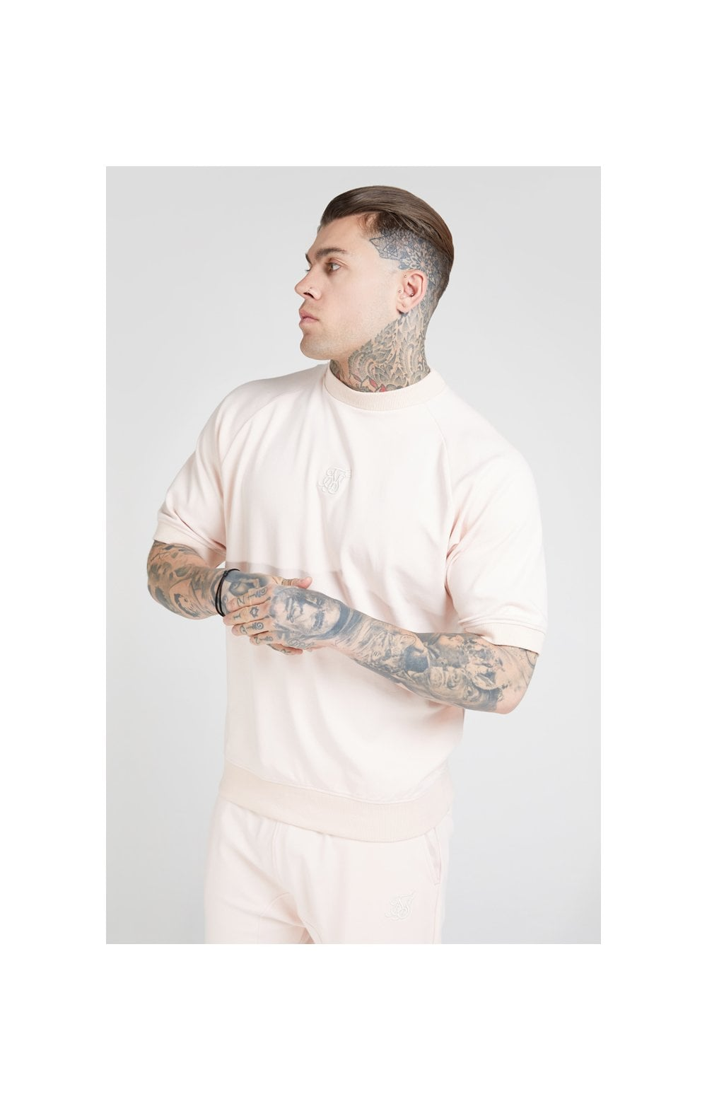SikSilk S/S Raglan Sweater - Cloudy Pink (1)