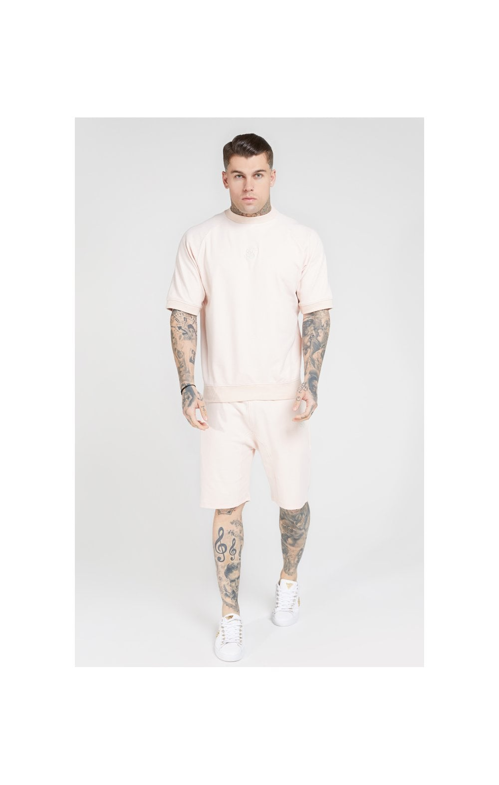 SikSilk S/S Raglan Sweater - Cloudy Pink (2)