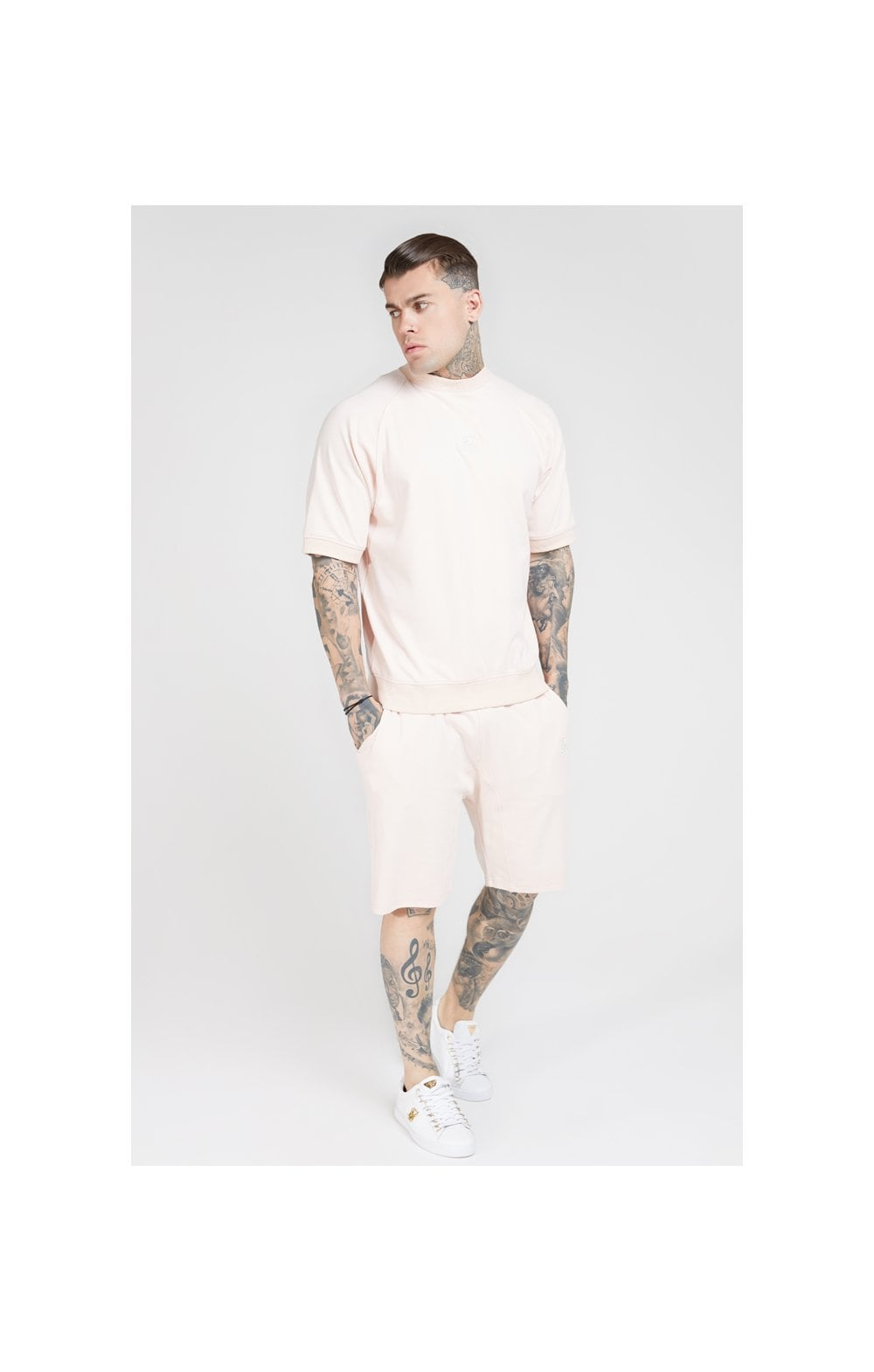 SikSilk S/S Raglan Sweater - Cloudy Pink (3)