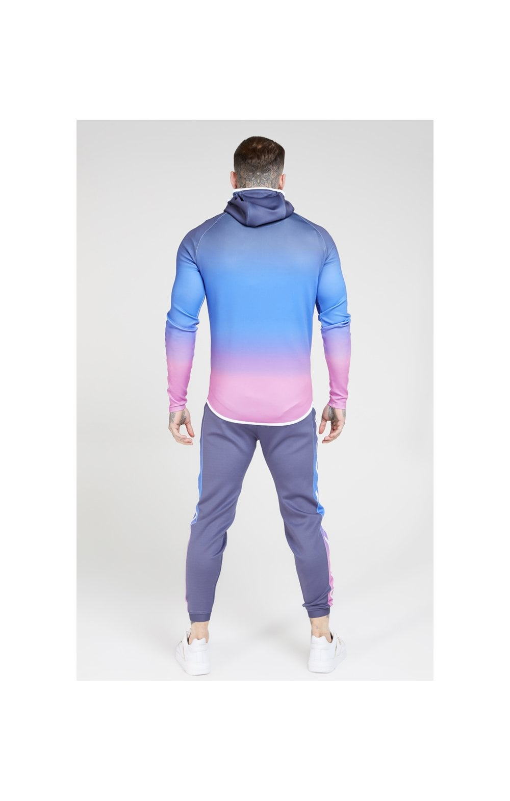 Charger l'image dans la galerie, SikSilk Athlete Zip Through Fade Hoodie – Tri-Neon Fade (5)