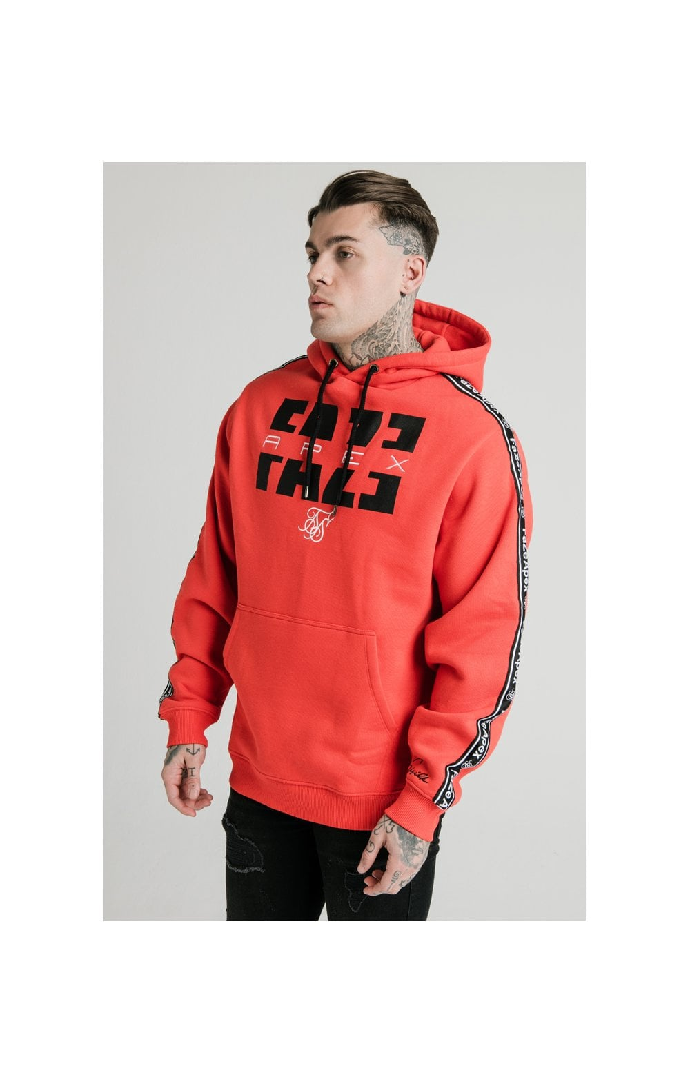 SikSilk x FaZe Apex Sweat à Capuche - Rouge (2)