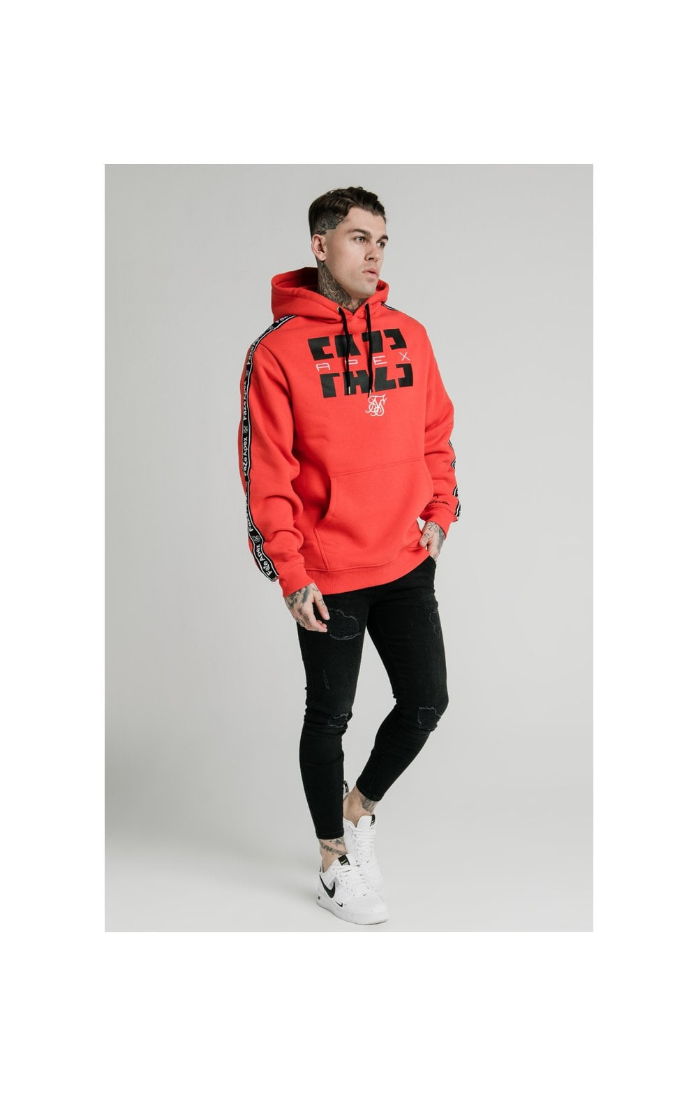 SikSilk x FaZe Apex Sweat à Capuche - Rouge (4)