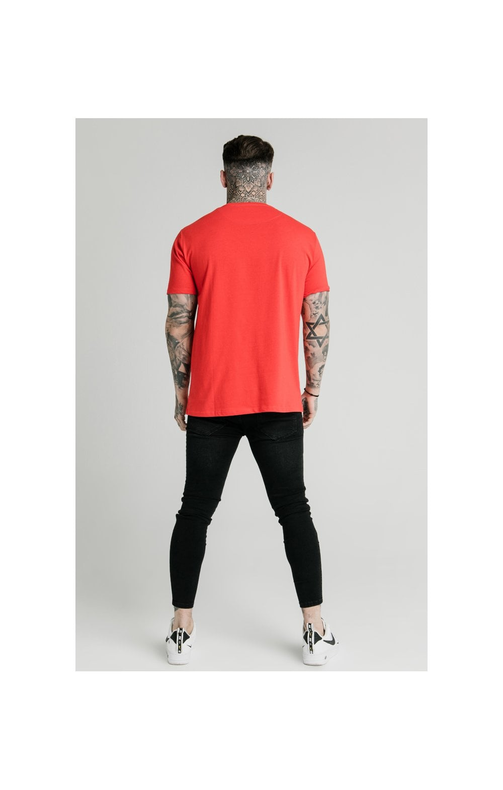 SikSilk x FaZe Apex T-Shirt à Ourlet Carré - Rouge (5)