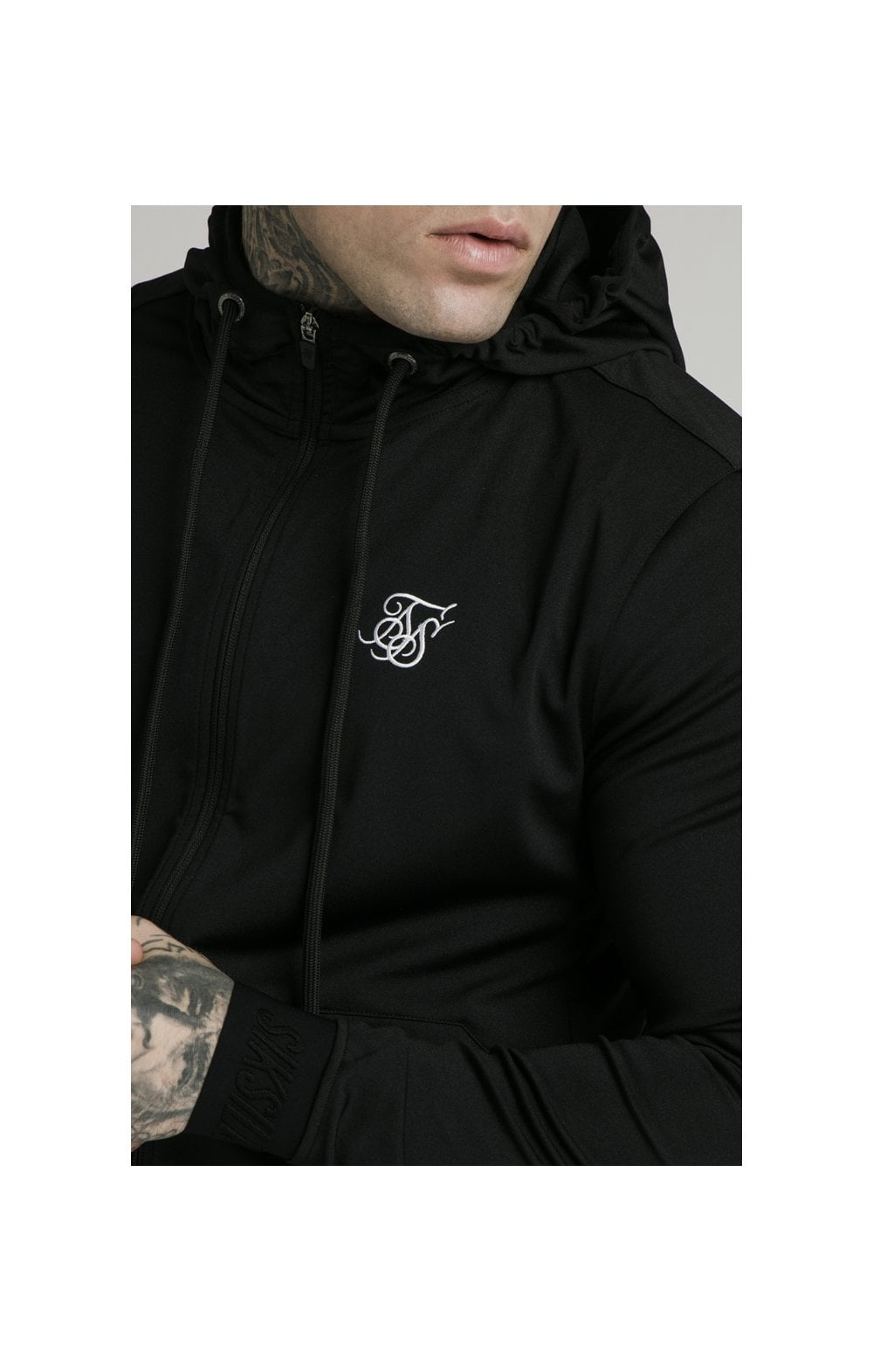Charger l'image dans la galerie, SikSilk Agility Zip Through Hoodie - Black (4)