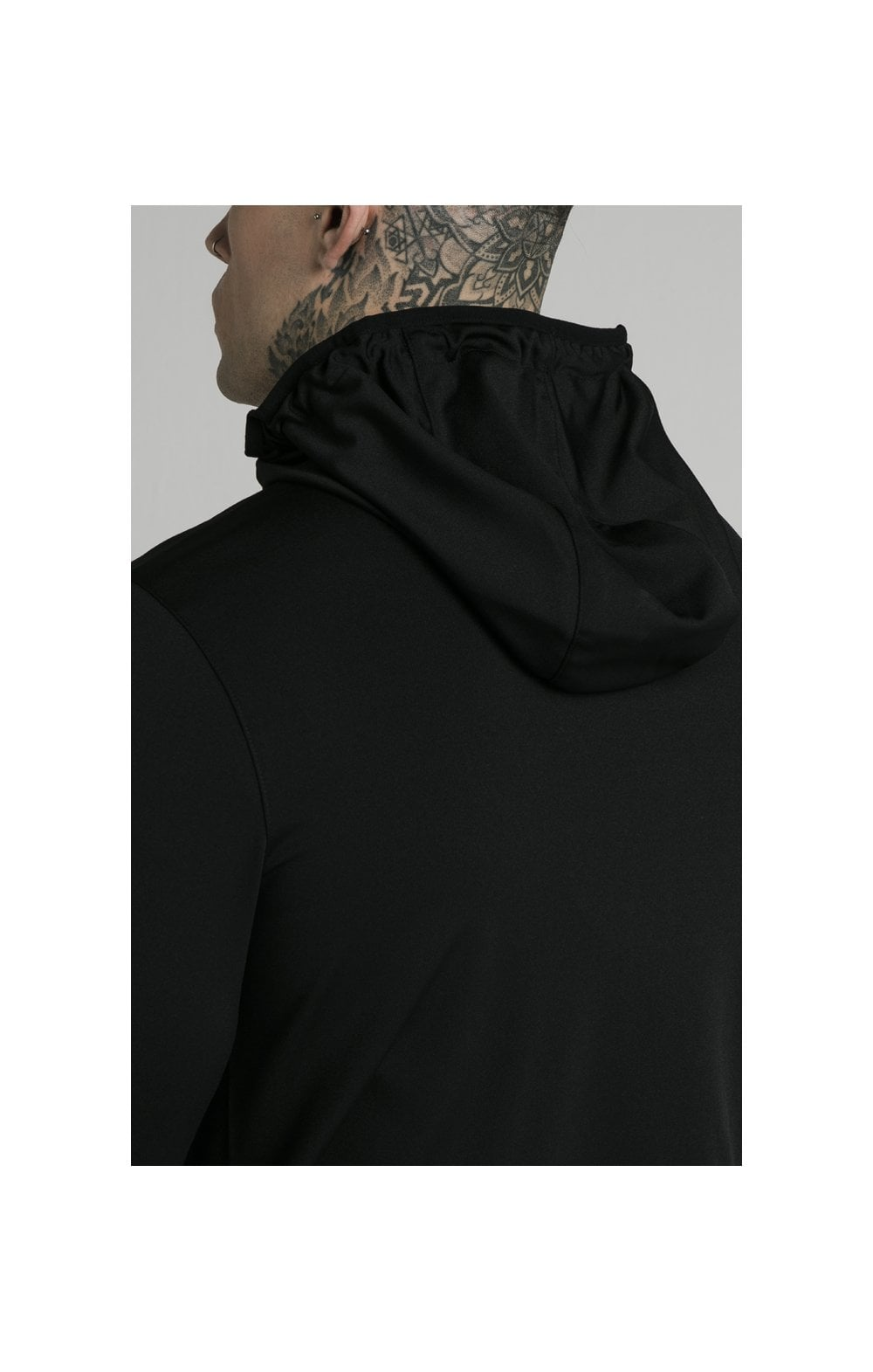 SikSilk Agility Zip Through Hoodie - Black (1)