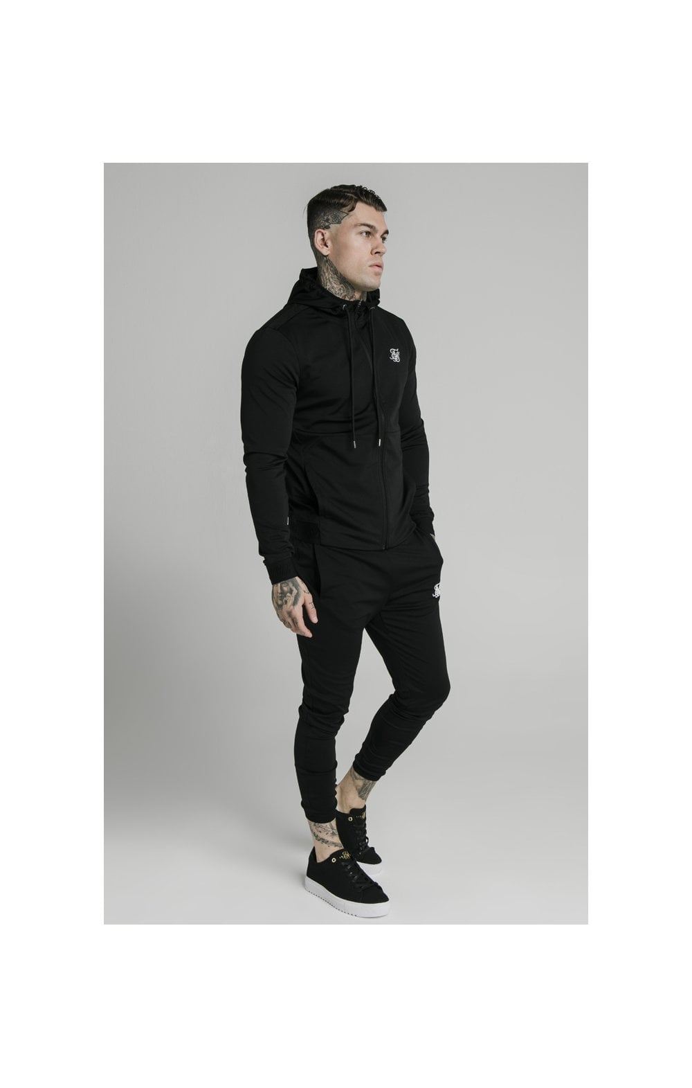 Charger l'image dans la galerie, SikSilk Agility Zip Through Hoodie - Black (2)