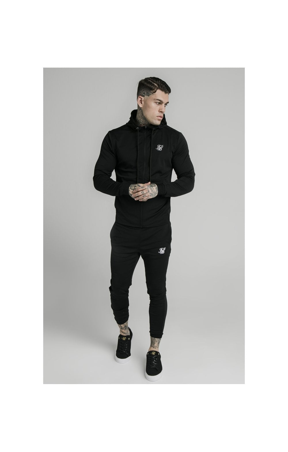 SikSilk Agility Zip Through Hoodie - Black (3)