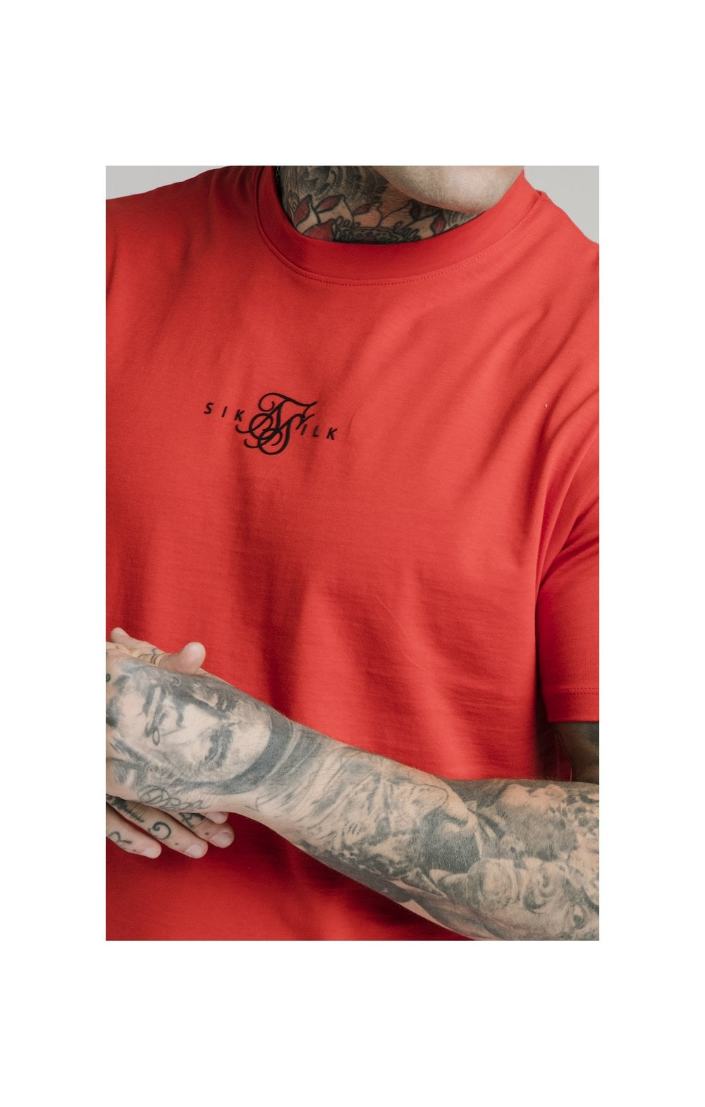 SikSilk S/S Square Hem Tee – Red (1)