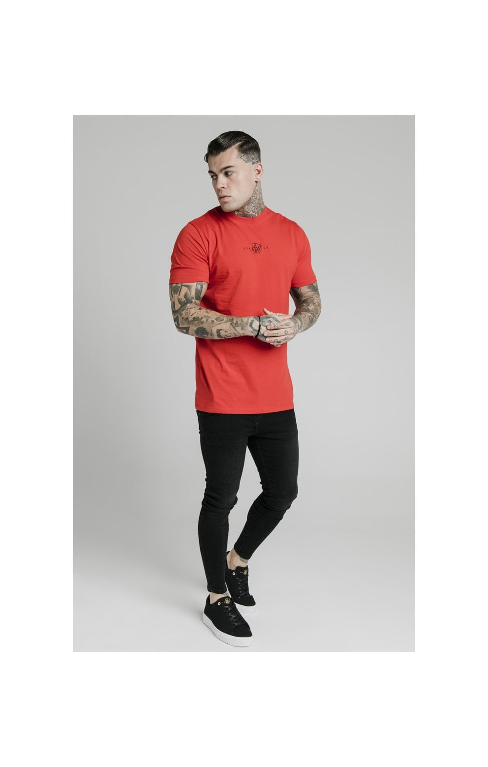 SikSilk S/S Square Hem Tee – Red (2)
