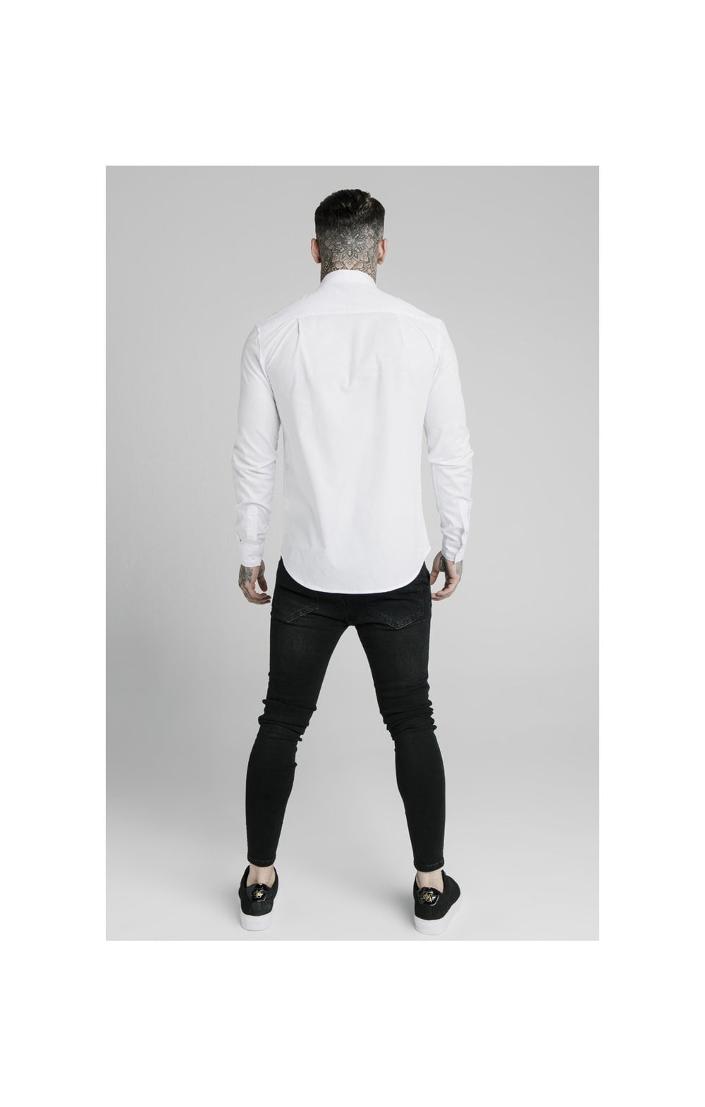 SikSilk L/S Standard Collar Shirt - White (3)