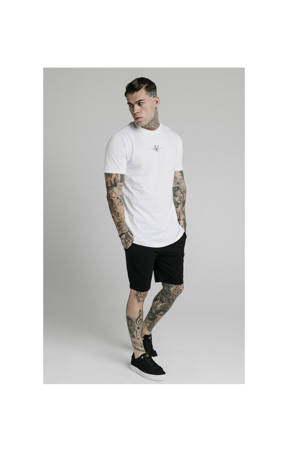 SikSilk Jersey Shorts - Black (2)