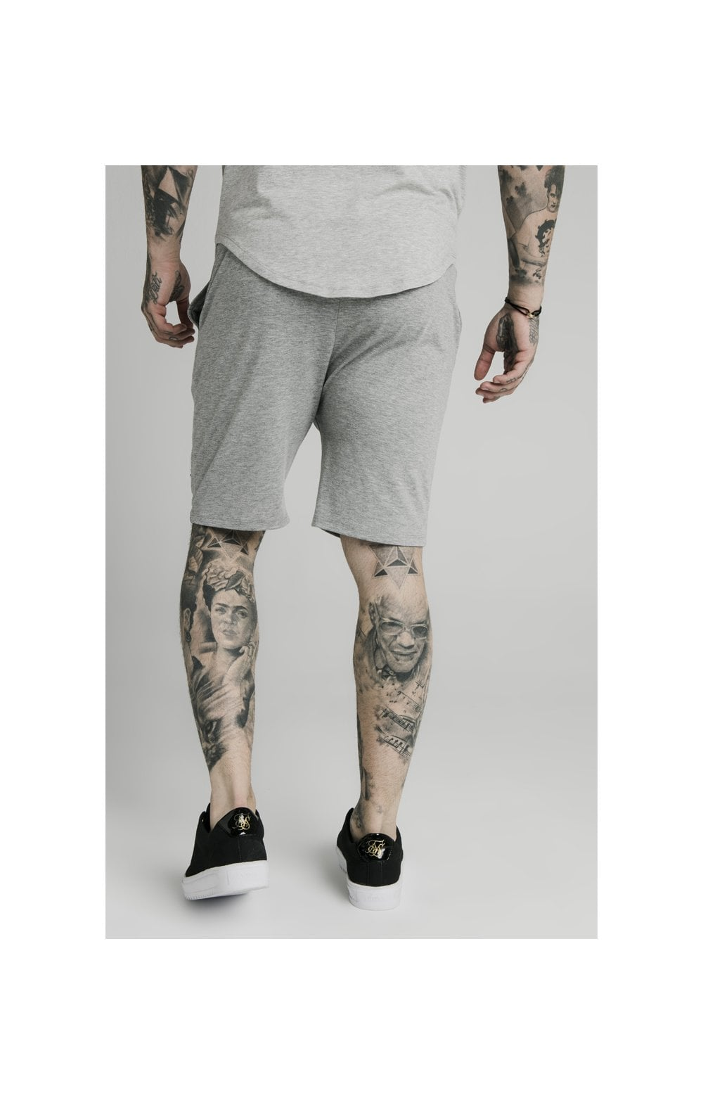 SikSilk Jersey Shorts - Grey Marl (3)