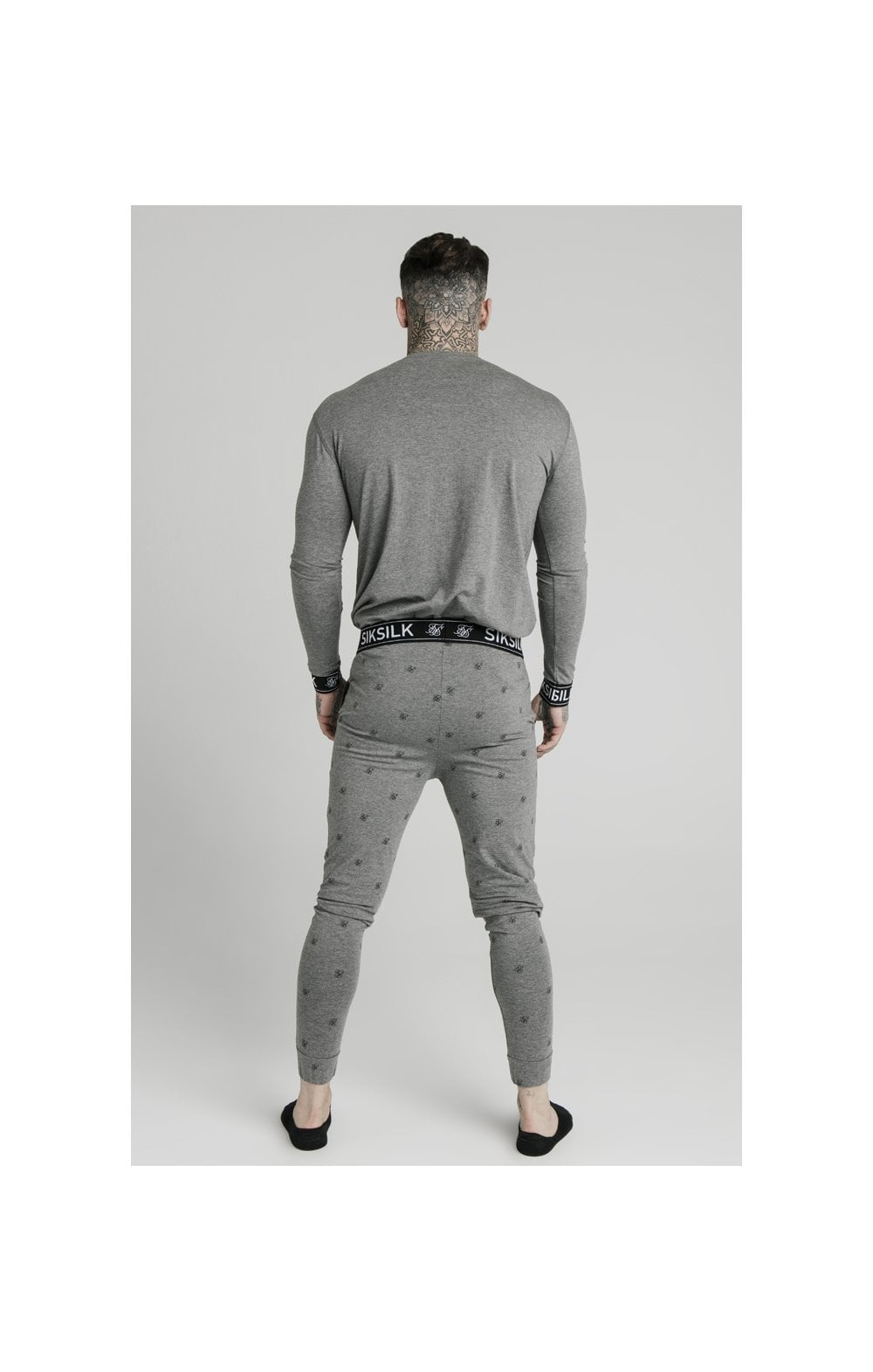 SikSilk L/S Lounge Tee – Grey Marl (4)
