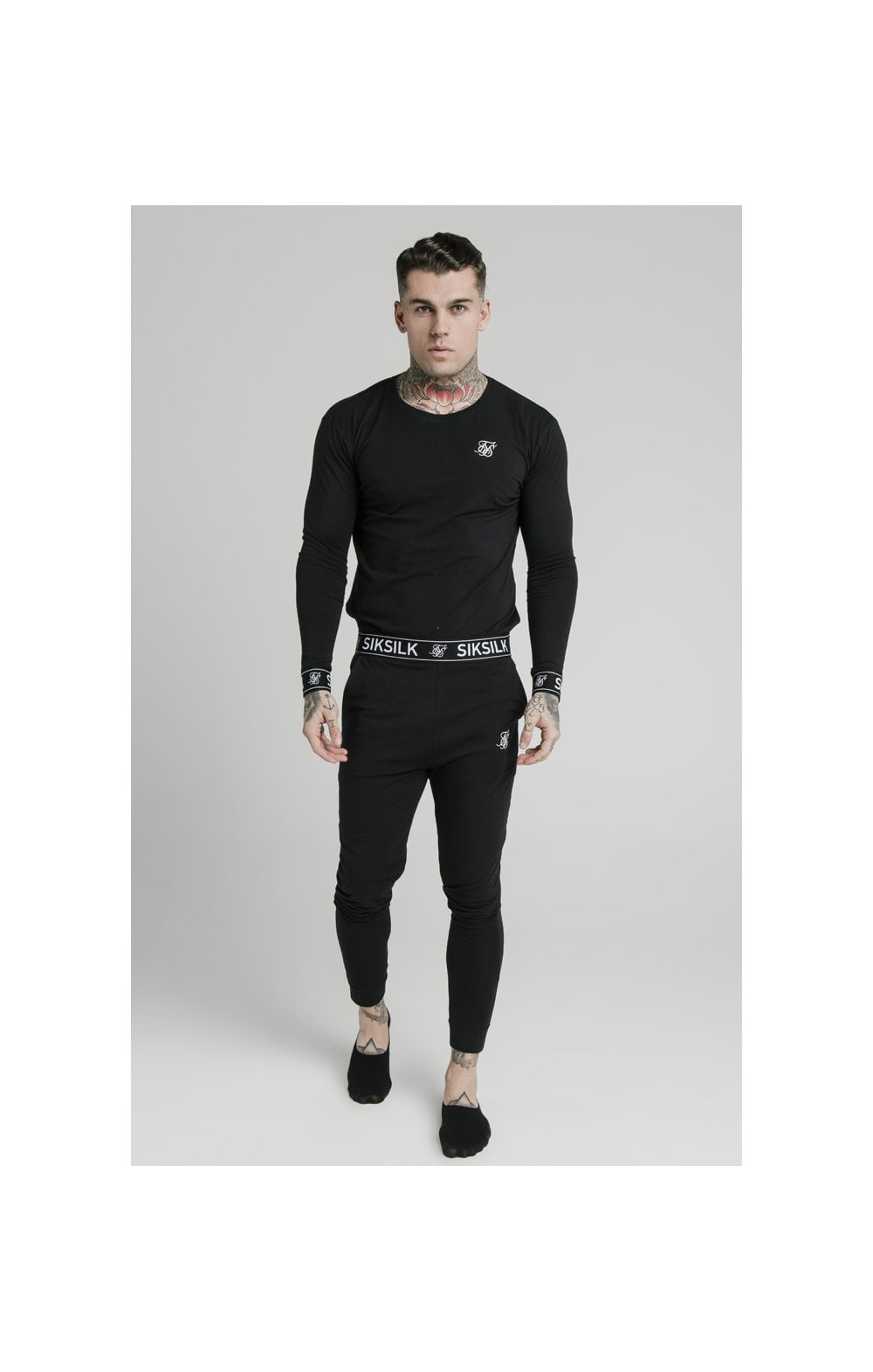 SikSilk L/S Lounge Tee – Black (2)
