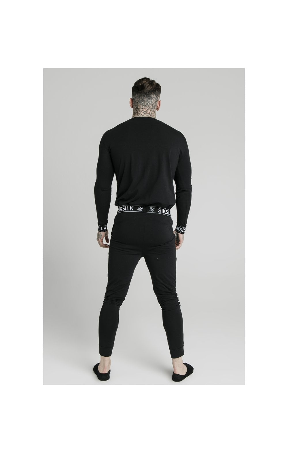 SikSilk L/S Lounge Tee – Black (4)