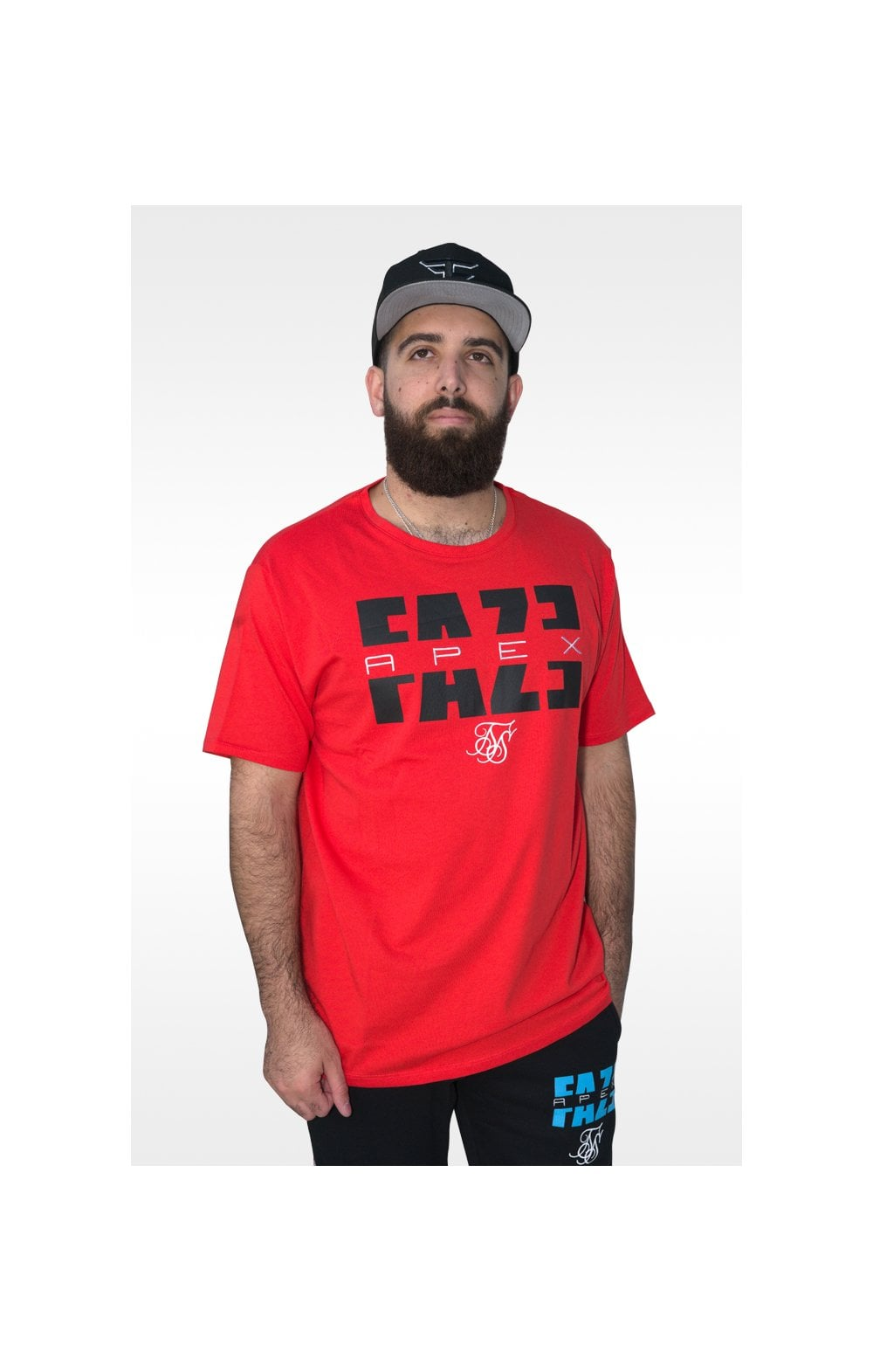 SikSilk x FaZe Apex T-Shirt à Ourlet Carré - Rouge (6)