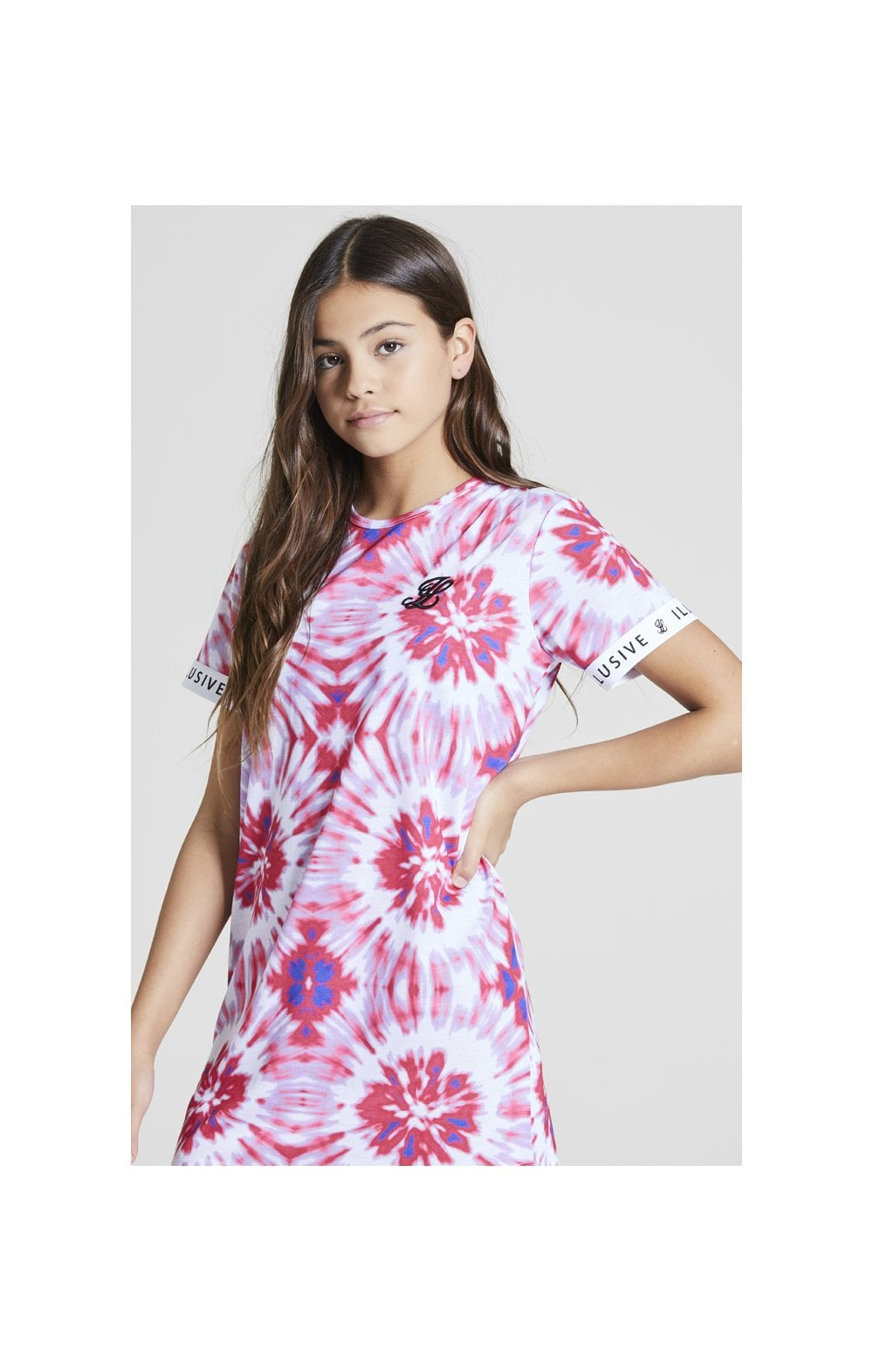 Illusive London Tie Dye T-Shirt Dress - Multi