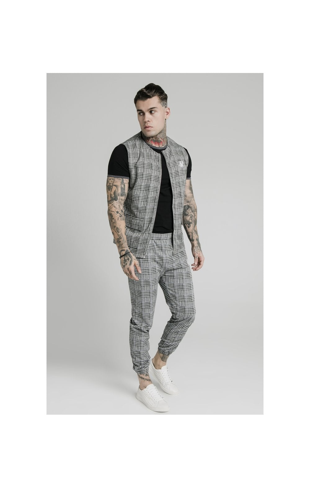 SikSilk Smart Wear Vest - Grey Dogtooth (2)