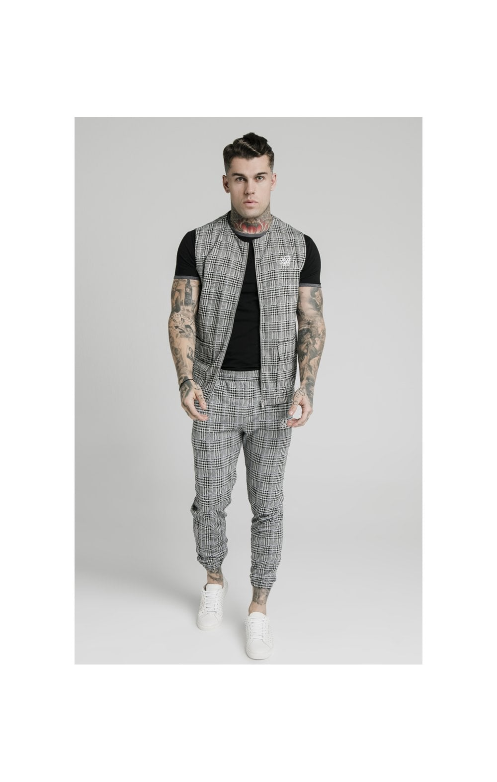 SikSilk Smart Wear Vest - Grey Dogtooth (3)