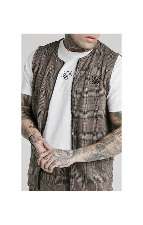 SikSilk Smart Wear Vest - Brown Dogtooth
