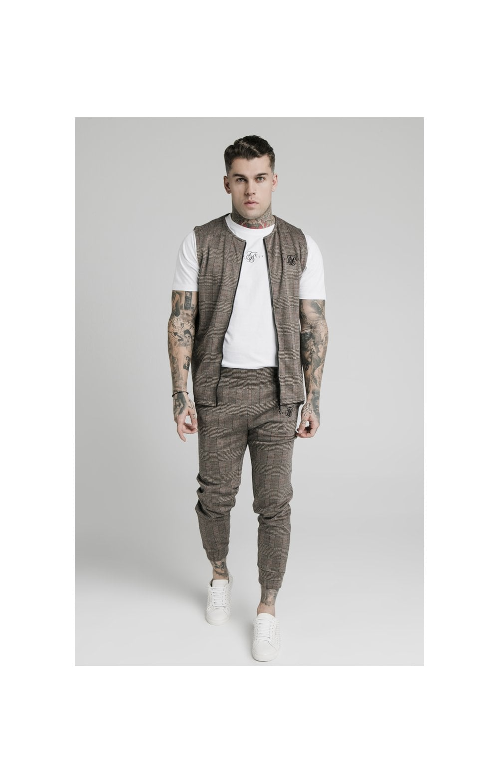 SikSilk Smart Wear Vest - Brown Dogtooth (2)