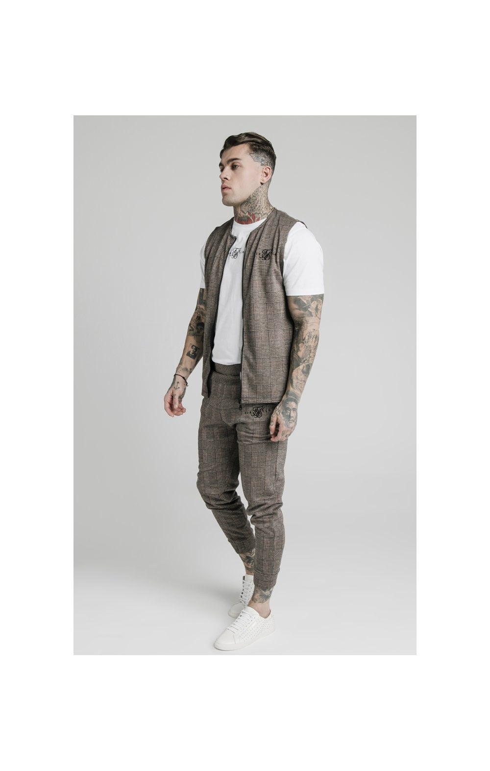SikSilk Smart Wear Vest - Brown Dogtooth (3)