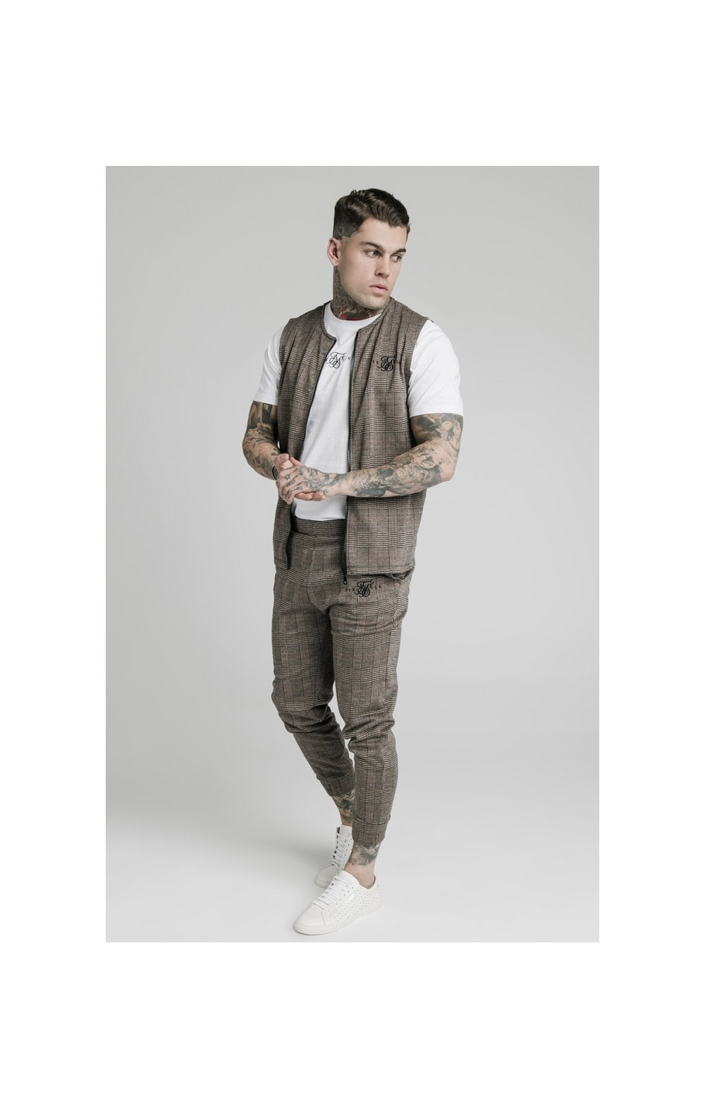 SikSilk Smart Wear Vest - Brown Dogtooth (4)