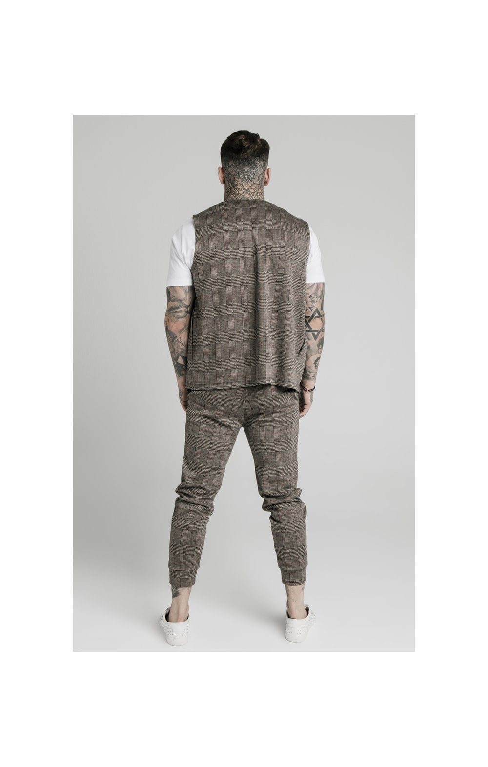 SikSilk Smart Wear Vest - Brown Dogtooth (5)