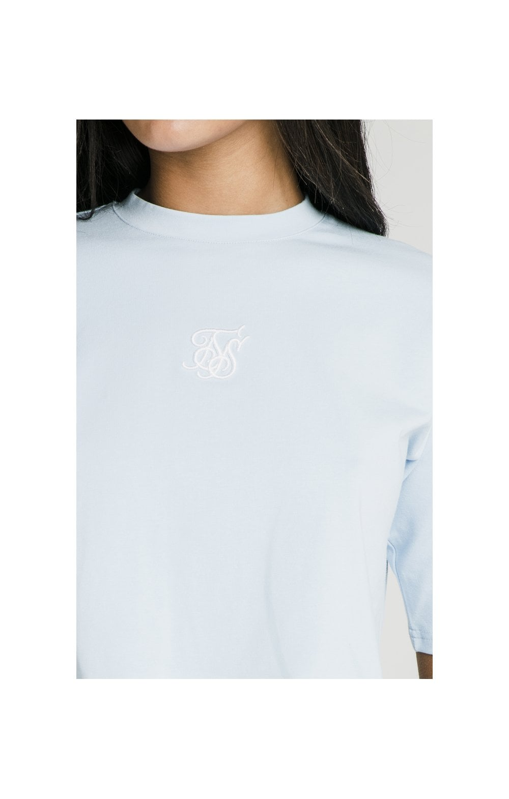 SikSilk Oversize Crop Tee - Light Blue (1)