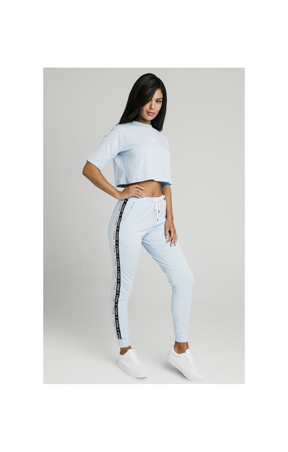 SikSilk Oversize Crop Tee - Light Blue (2)