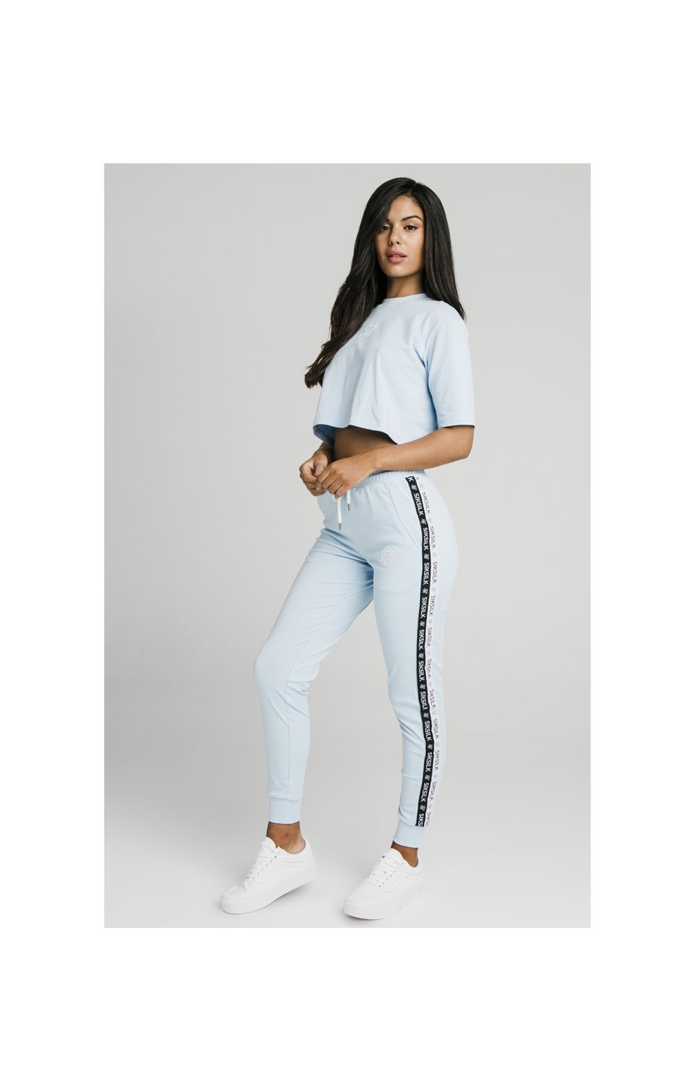 SikSilk Oversize Crop Tee - Light Blue (3)