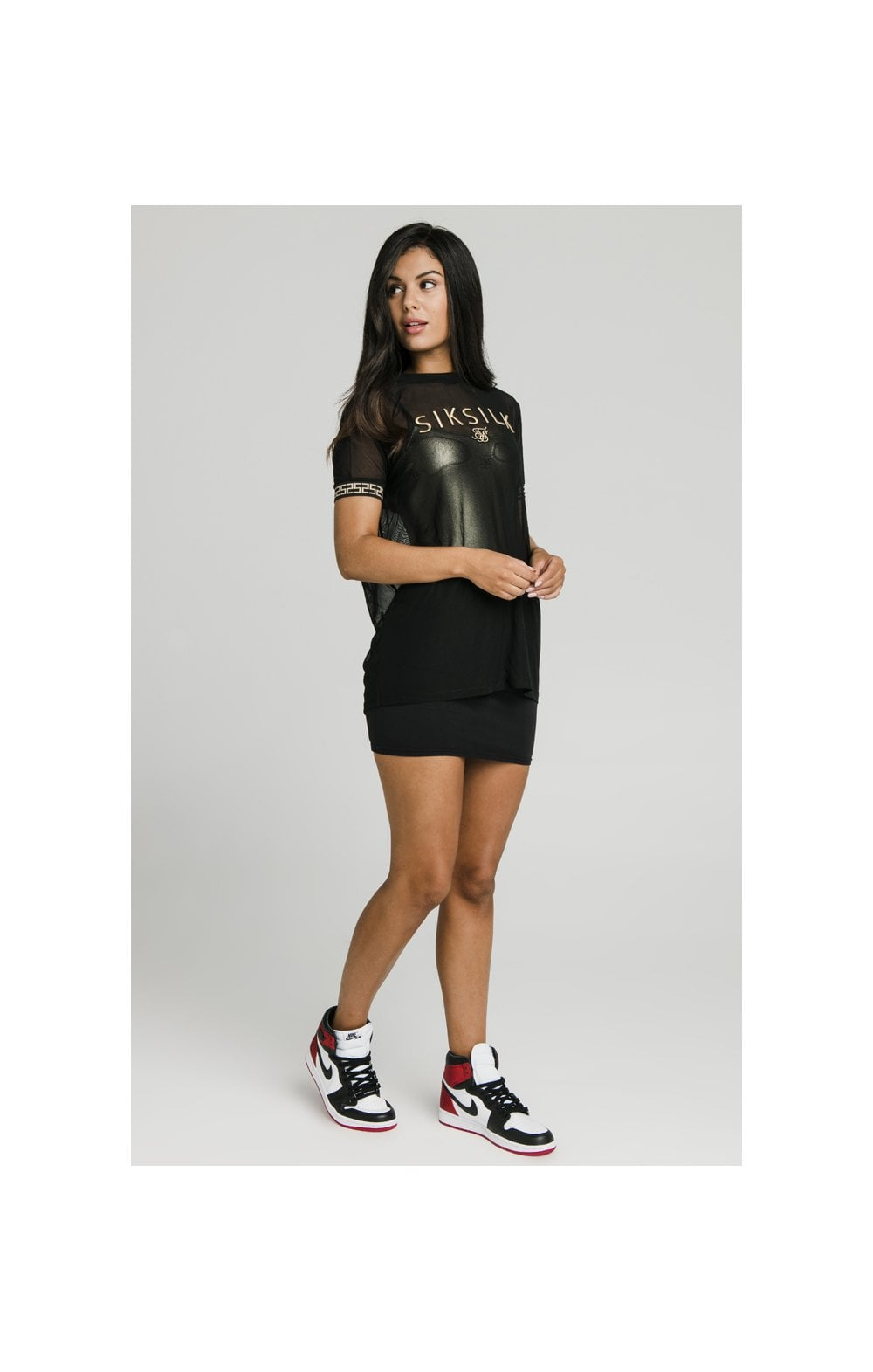 SikSilk Luxury Mesh Tee - Black (4)